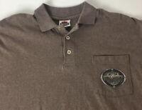Harley Davidson Motor Cycles Polo Casual Shirt Virginia Beach Pocket XL Logo