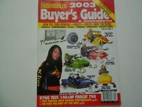 American Snowmobiler magazine 2003 Buyers Guide issue Ski-Doo REV, Firecat, RX-1
