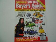 American Snowmobiler magazine 2003 Buyers Guide issue Ski-Doo REV, Firecat, RX-1