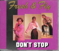 """FRESH & FLY - Don't stop 3"""" Inch CD SINGLE 3TR Euro House Synth-Pop 1989"""