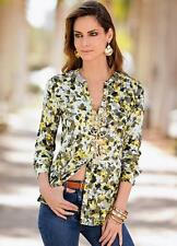 Slinky Camo Print Stud Front Blouse Size 20 NEW