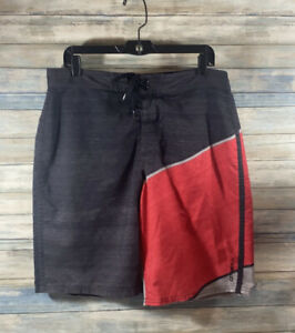 O'Neill, Black and Red, Size 34, Men's Trunks.