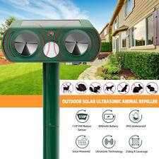 New listing Solar Ultrasonic Animal Repeller Dog Cat Skunk Deer Raccoon Repellent for Garden