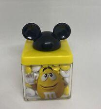 Disney Springs M&M's World Yellow Mickey Ears Cube Milk Chocolate New