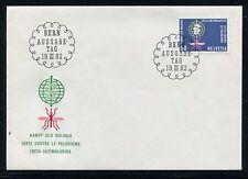 Switzerland  Cover, FDC, World Fight Against Malaria 1962. x23227
