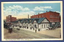1924 PC - Erie Railroad Station and St. James Hotel. Corning, N.Y.
