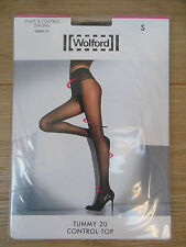Wolford Tummy 20 Control Top Tights Small UK 10/12 Coca Brown 20 Den