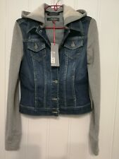 Marks and Spencer Woman Denim Hooded Jacket Size 8 BNW