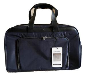Nomad Lane Navy Blue Bronze Bento Bag Travel Carry On Weekender