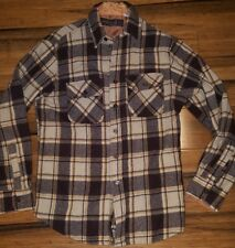 Vintage SportsWear Sears Plaid Button Front Long Sleeve Flannel Shirt Size Small
