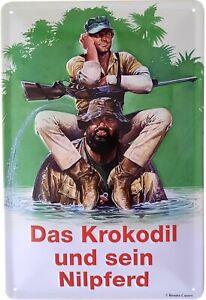 Blechschild 20x30 Bud Spencer Terence Hill Das Krokodil und sein Nilpferd Film