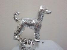 "Afghan Metal dog Trophy toppper, figure, 3.5"" tall, Metal"