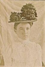 c1870-1889 CDV Columbia PA Woman & Outrageous Hat, Pannebecker Photo Co.