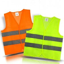 Gilet Sécurité Haute Visibilité Fluo Réfléchissant Manteau Vest Orange/Vert Vélo