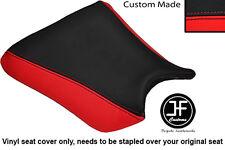 RED & BLACK AUTOMOTIVE VINYL CUSTOM FITS KAWASAKI ZXR 250 88-91 FRONT SEAT COVER