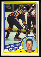1984-85 OPC O PEE CHEE HOCKEY #17 DAVE ANDREYCHUK NM ROOKIE BUFFALO SABRES RC