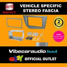 Seat Leon 2005 - 2012 Double Din Stereo Fascia Adaptor Galena Silver CT23ST19