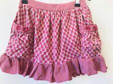 Girls Pink Check Skirt By Metalicus Mini Size 4 - 6 EUC