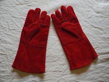 Woodburner logburner  multifuel stove heat resistant gauntlet gloves