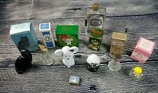 Vintage Avon Glass Bottles Decanters Perfume Empty Used Bundle Lot of 8