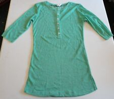 Women's Mint Green 3/4 Sleeve 6 Button Top size M by Junk Food Brand NWD