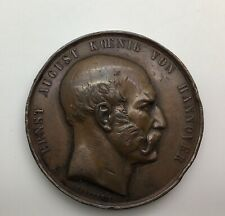 Braunschweig Calenberg Hannover August Von Hannover  Medal 1852 Royal Theatre