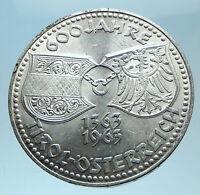1963 AUSTRIA Tyrol and Austrian Shields Genuine Silver 50 Shilling Coin i78094