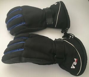 100 % Polyester Winter Black/Orange Gloves FREE US SHIP & HANDLING!