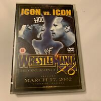 WWF WWE Icon vs Icon Wrestlemania 18 X8 2002 DVD With Poster. Triple H, Jericho.