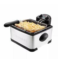 Chefman Deep Fryer - 4 Liter Stainless Steel Dual-Basket (Includes One 4-Liter
