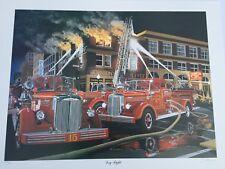 David Snyder Sold Out 1995 Dog Fight Vintage Mack Fire Trucks Danbury Mint Dave