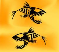 fishing sticker for iphone samsung nokia phone smartphone bass fish vinyl decal