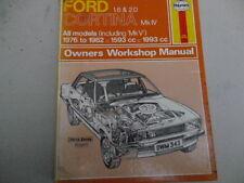 Cortina de Ford MK4 manual de Haynes, de 1976 a 1982,1 .6 & 2.0 OHC,