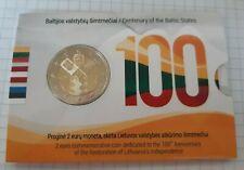 "Lithuania 2 euro coin 2018 dedicated to ""Baltic States"" BU"