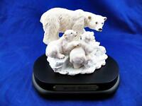 """VTG Arctic Bears """"Families of the Wild Collection"""" Music Box WORKS Great! EUC"""
