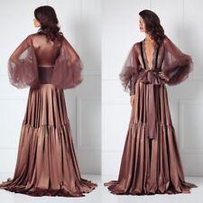 Women Lace Sleepwear Long Robes Wedding Bridal Nightgown Spa Prom Party Custom