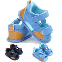 Anti-slip Baby Boys Girl Canvas Shoes Soft Sole Crib Casual Summer Sandals Shoes