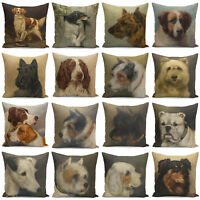 18'' Dog Print Pillow Cover Throw Pillow Case Cushion Cover Sofa Home Decor