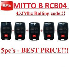 5 X BFT MITTO4, MITTO B RCB04 R1, 4-channel remote 433,92Mhz. 5 Pieces!!!