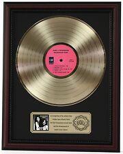 "BUCKINGHAM NICKS GOLD LP RECORD FRAMED CHERRYWOOD DISPLAY ""C3"""