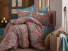 Bedding Set Paisley Damask Duvet Cover Oriental Hippie Mandala Linen East Mystic
