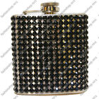 New 6oz Black Bling Rhinestone Diamond Stainless Steel Hip Flask