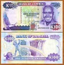 Zambia, 100 Kwacha, ND (1991), P-34, UNC