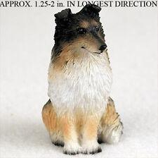 Sheltie Mini Resin Hand Painted Dog Figurine Tri Color