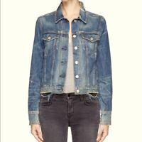 Rag & Bone distressed denim jacket M medium