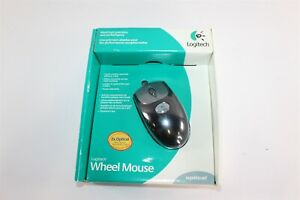 New Logitech USB Wired Optical Black Scroll Wheel Mouse 930808-0403