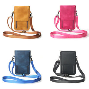 Mini Girl Leather Purse Zipper Shoulder Bag Case For iPhone 7 LG ZTE Huawei Asus