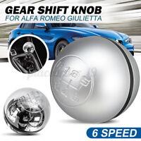 6 Speed Gear Stick Shift Knob Lever 50294565 For Alfa Romeo Giulietta