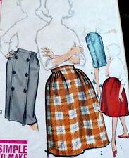 *LOVELY VTG 1960s SKIRT Sewing Pattern Waist 26