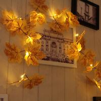 LED-weißer warmer Herbst verlässt Ahorn-Girlanden-Schnur-Lichter HQ
